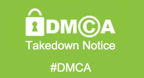 DMCA takedown request